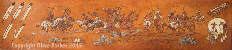 Warriors - Leather and Acrylic, Scene 1